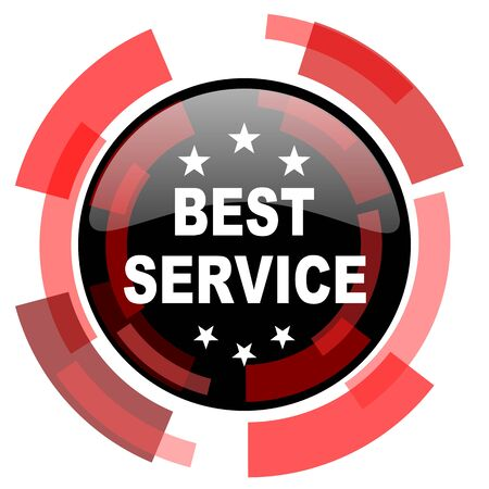 best service: best service red modern web icon
