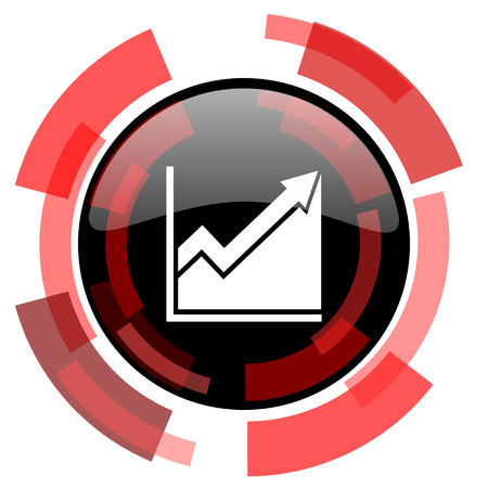 histogram: histogram red modern web icon