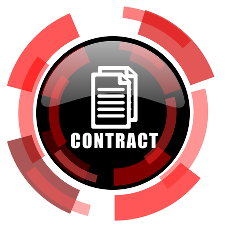 icom: contract red modern web icon Stock Photo