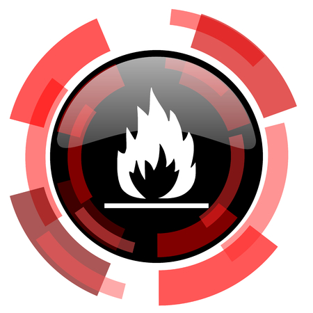 flame: flame red modern web icon