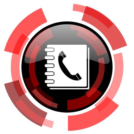 phonebook: phonebook red modern web icon