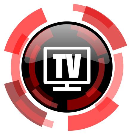 programm: tv red modern web icon