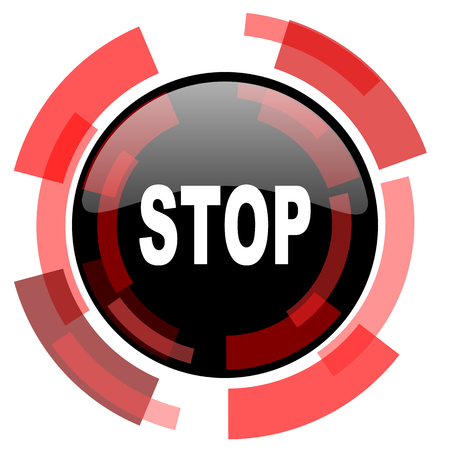 proscribed: stop red modern web icon