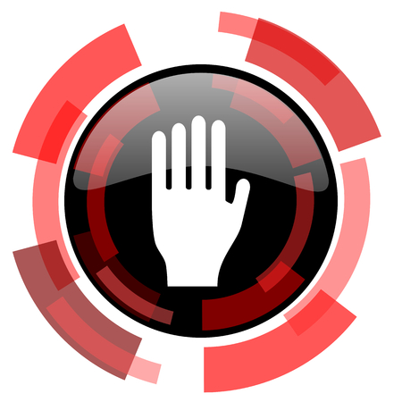 phone ban: stop red modern web icon