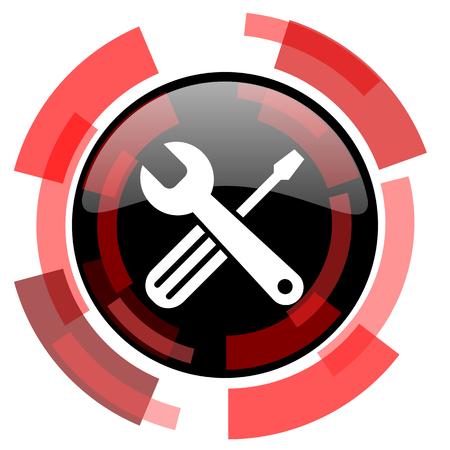 option key: tools red modern web icon Stock Photo