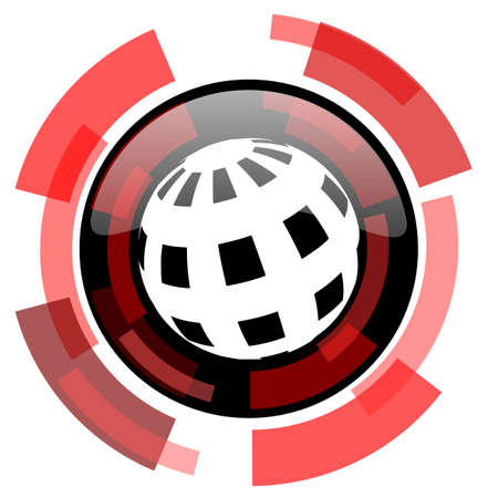 smarthone: earth red modern web icon
