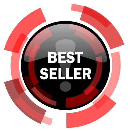 approval button: best seller red modern web icon