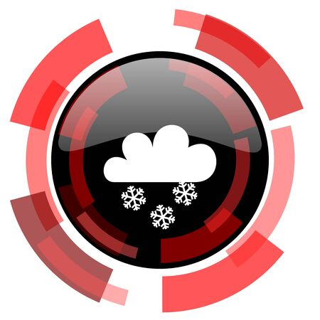 snowing: snowing red modern web icon