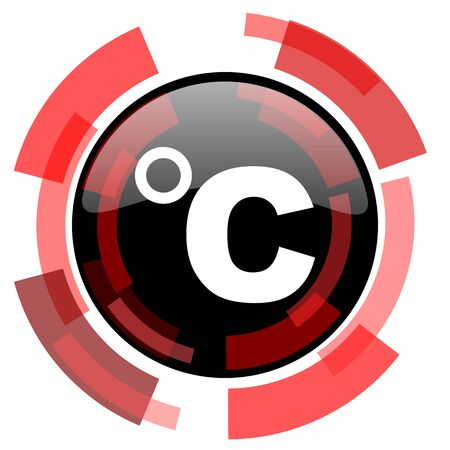 smarthone: celsius red modern web icon