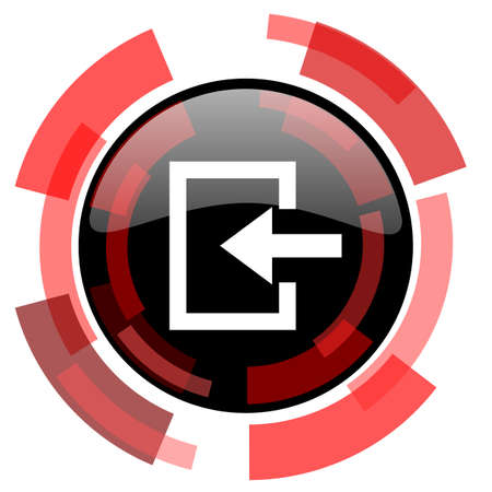 smarthone: enter red modern web icon Stock Photo