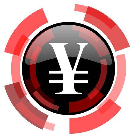smarthone: yen red modern web icon