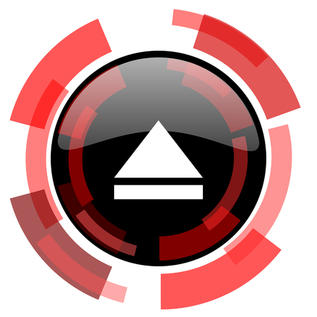 eject icon: eject red modern web icon Stock Photo