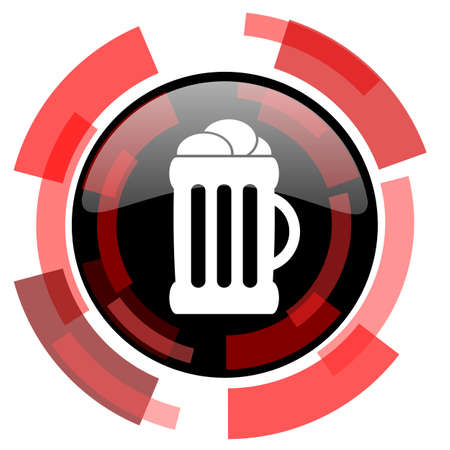 cereal bar: beer red modern web icon