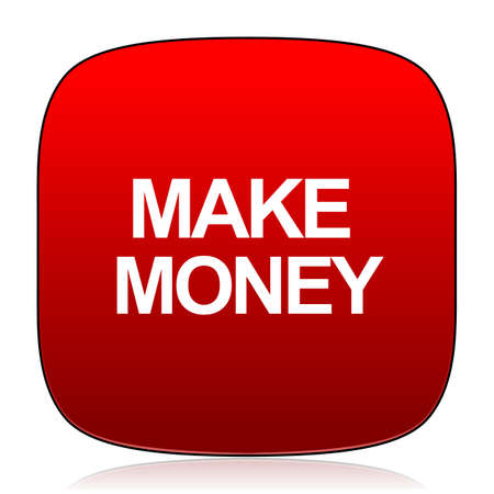 make money: make money icon Stock Photo
