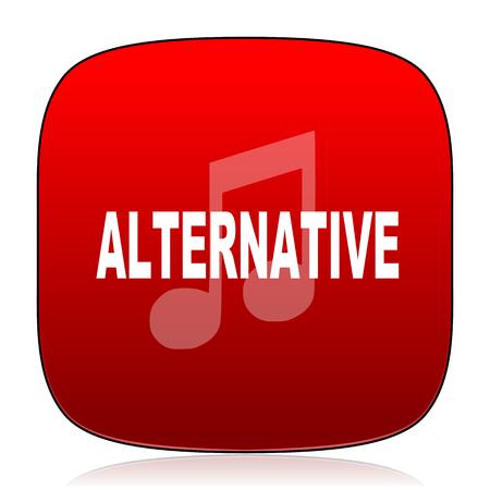 alternative: alternative music icon Stock Photo