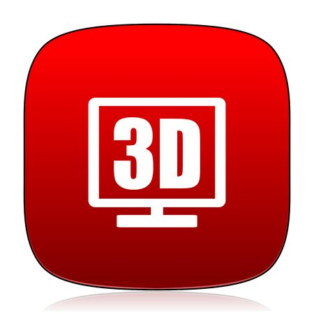 display: 3d display icon Stock Photo