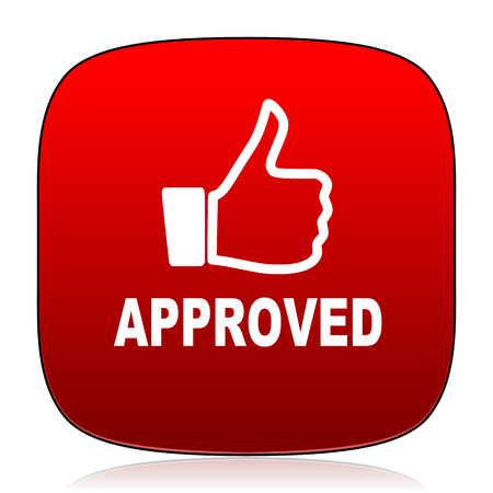 approved icon: approved icon Stock Photo