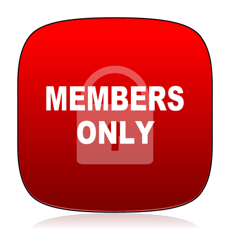 members only: members only icon Stock Photo