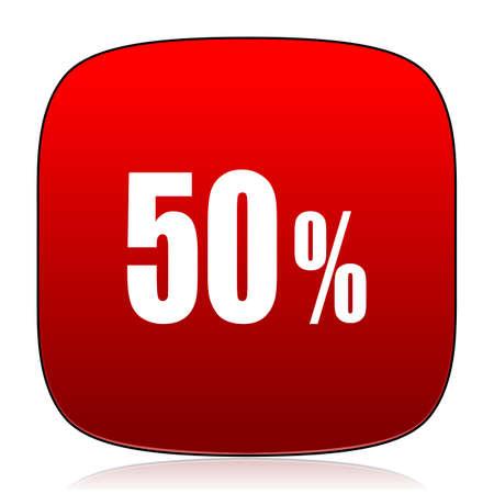 50: 50 percent icon Stock Photo