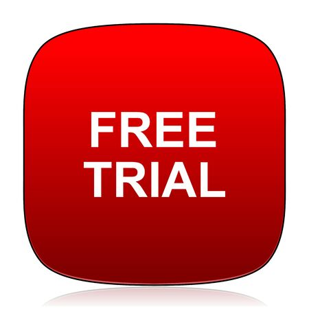 free trial: free trial icon Stock Photo