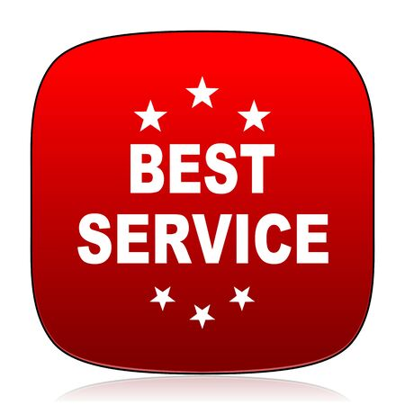 best service: best service icon Stock Photo