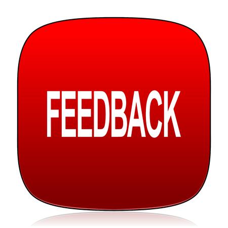 feedback: feedback icon Stock Photo