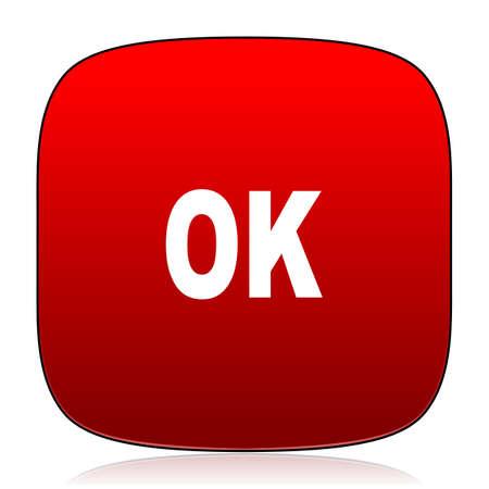 ok icon: ok icon Stock Photo