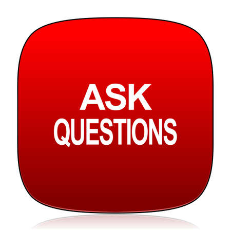 ask: ask questions icon Stock Photo