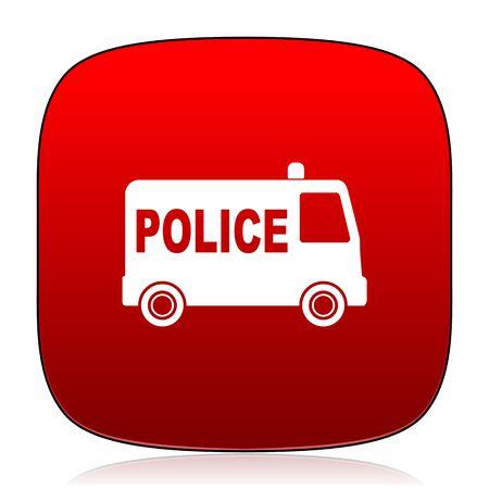 highway patrol: police icon Stock Photo
