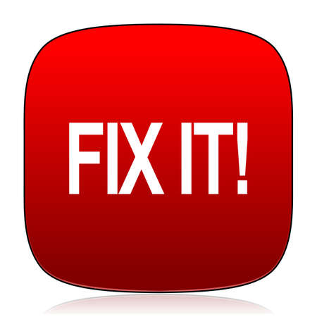 at it: fix it icon Stock Photo