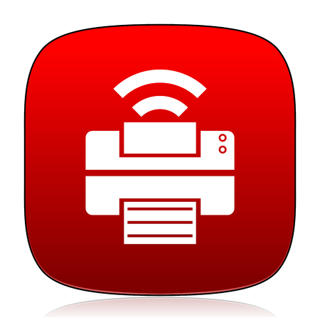 printer icon: printer icon Stock Photo