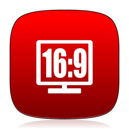 16 9 display: 16 9 display icon
