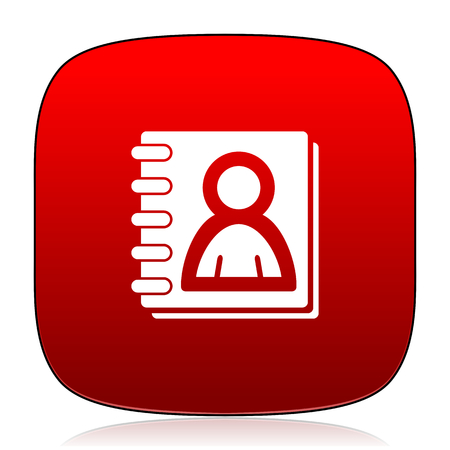 address book: address book icon Stock Photo