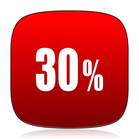 30: 30 percent icon Stock Photo