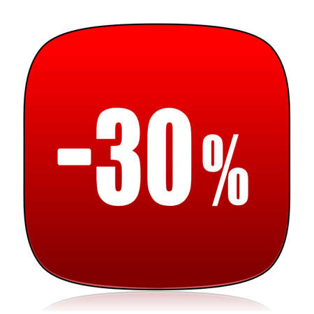 the 30: 30 percent sale retail icon Stock Photo