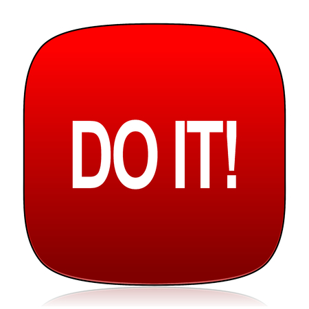 just do it: do it icon Stock Photo