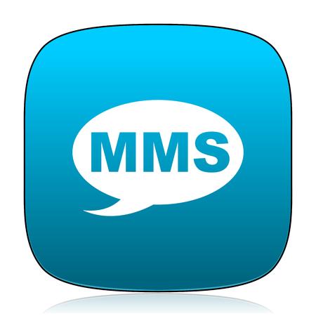 mms: mms blue icon
