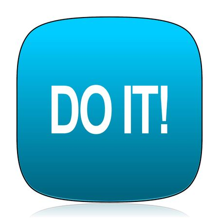 just do it: do it blue icon