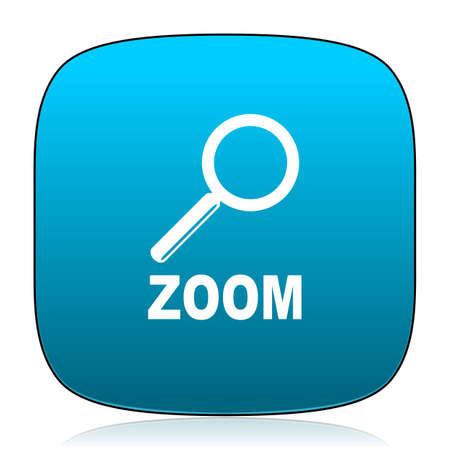 zoom: zoom blue icon