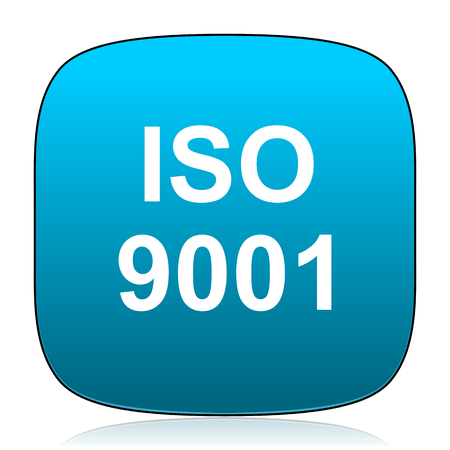 din: iso 9001 blue icon