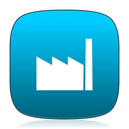 industrialist: factory blue icon