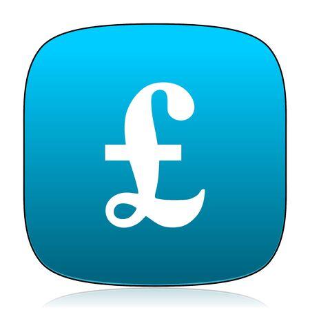 pound: pound blue icon