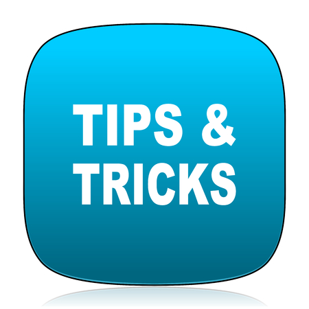 tricks: tips tricks blue icon
