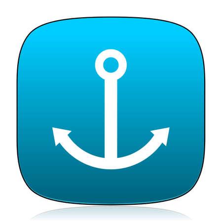 quay: anchor blue icon