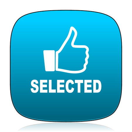 selected: selected blue icon