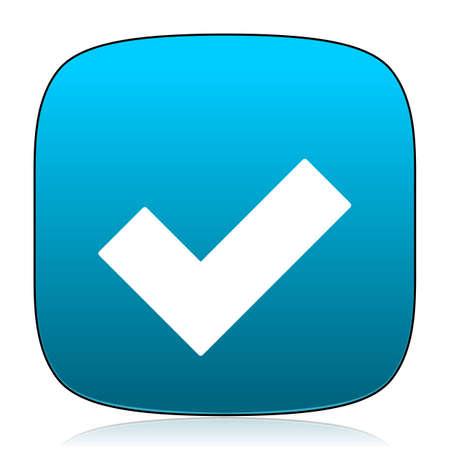 to accept: accept blue icon