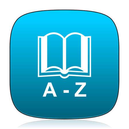 dictionary: dictionary blue icon Stock Photo