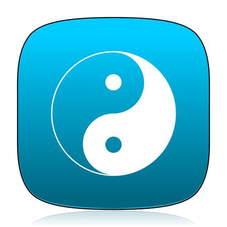 ying: ying yang blue icon