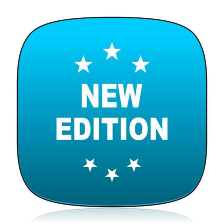 edition: new edition blue icon Stock Photo