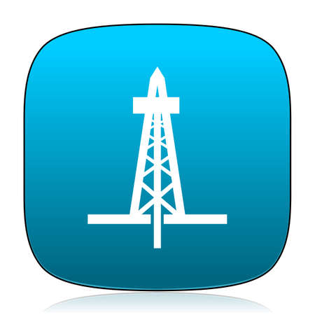 drilling: drilling blue icon